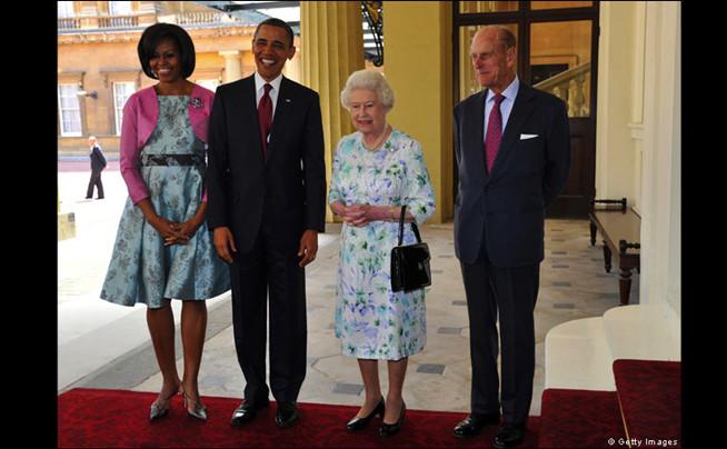 图辑:奥巴马到访英国